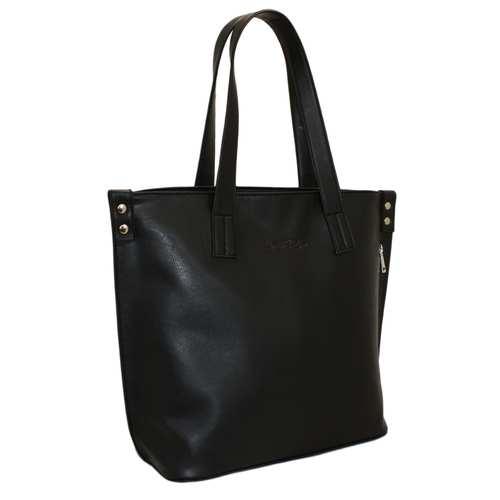 """Чудова сумка для стильних жінок створена українським брендом ТМ """"LucheRino"""". Виготовлена з високоякісного шкірозамінника та міцної підкладки. Дуже вмістка та зручна у використанні. Одне відділення за рахунок великих розмірів  дозволяє розміщати різноформатні речі. Стаціонарні ручки середньої довжини надійно пришиті.Головною прикрасою стане вертикальна бокова кишеня з гарною фурнітурою."""