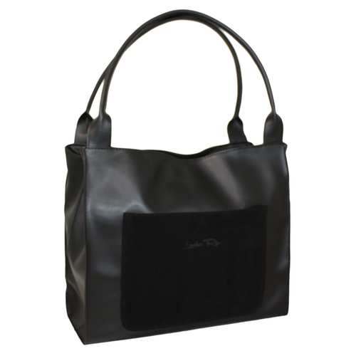 """Красива комфортна сумка у стилі """"Tote Bag"""" від українського виробника ТМ """"LucheRino"""". Сумка виготовлена з високоякісного яскравого шкірзамінника з приємною текстурою. Великі прямокутні розміри сумки дозволяють легко розміщувати різноформатні речі. Зручні два відділення з внутрішніми кишенями зачиняються на загальну блискавку. Дві стаціонарні ручки середньої довжини."""
