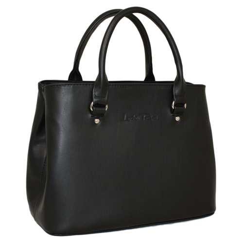 """Класична красива сумочка представлена українським брендом ТМ """"LucheRino"""". Модель виготовляється з високоякісного шкірозамінника та надійної текстильної підкладки. Дві короткі ручки та один довгий регульований ремінець. З кожної сторони вмонтовані кнопки, які змінюють ширину сумки. Два відділення."""
