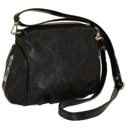 Жіноча сумка зі шкірзамінника з текстурою пітон