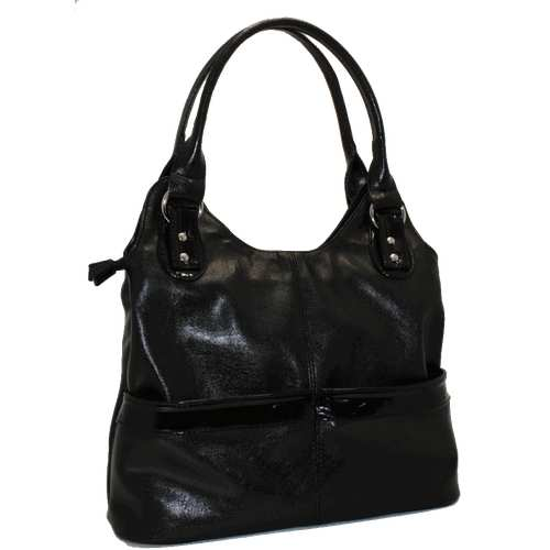 Стильна жіноча сумка виконана з шкірозамінника.