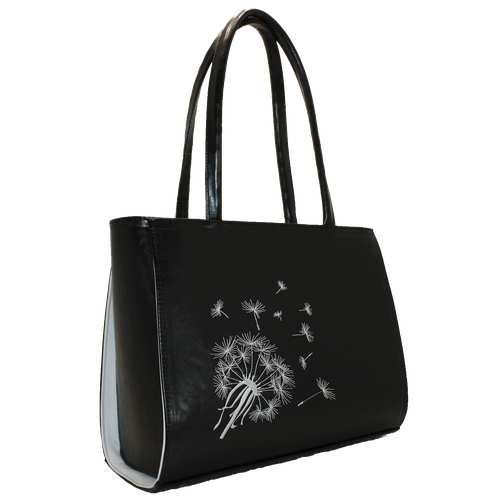 Жіноча каркасна сумка з вишивкою.