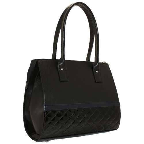 Комбінована каркасна сумка зі шкірзамінника