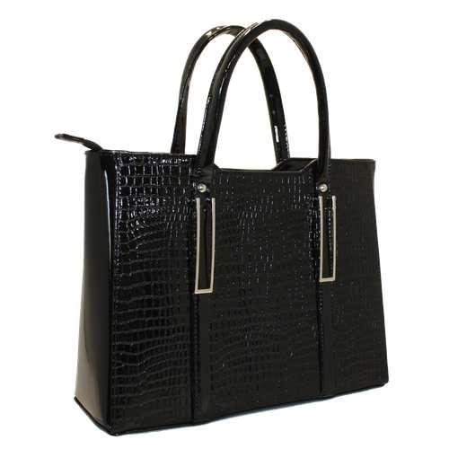 Каркасна сумка з лакованого шкірзамінника