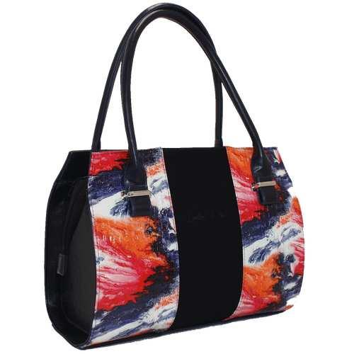 Каркасна сумка зі шкірзамінника.