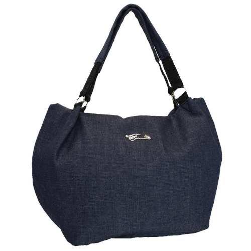 Містка жіноча сумка із джинсу.
