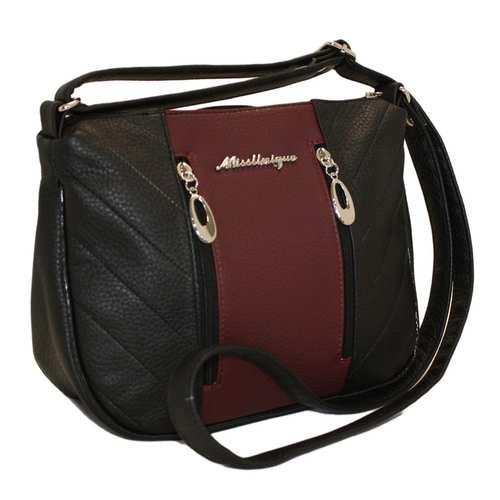 Комбінована сумка зі шкірзамінника
