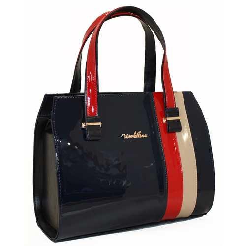 Каркасна сумка зі шкірзамінника високої якості.
