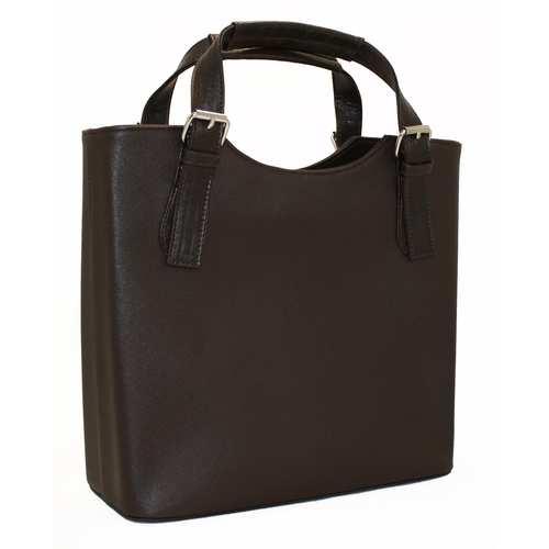 """Дуже красива сумка в діловому стилі представлена українським брендом ТМ """"LucheRino"""". Модель виготовлена з шкірозамінника високої якості в текстурі - бамбук та гарної міцної фурнітури, яка виступає в ролі декору. Дві короткі ручки та один знімний регульований ремінець."""